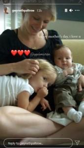 グウィネスと幼少時の子供達(画像は『Gwyneth Paltrow 2021年5月9日付Instagram』のスクリーンショット)