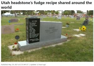 【海外発!Breaking News】墓石に刻まれたお菓子のレシピ 死後も笑顔を届ける心優しき女性(米)<動画あり>