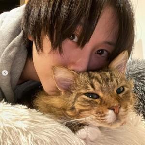"""【エンタがビタミン♪】松井玲奈、1歳だった保護猫を迎えて約5年「警戒心が強くて大変でした」""""ネコ吸い""""坂本美雨は11年暮らし「もう倍生きていこう」"""