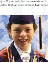 【海外発!Breaking News】「スポンジのように知識を吸収する」12歳、高校と大学を同時に卒業 すでに2つの会社も起業(米)
