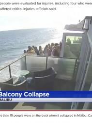 【海外発!Breaking News】人で溢れたバルコニーが限界を迎える 崩落の瞬間を捉えた衝撃の映像(米)<動画あり>
