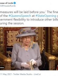 【イタすぎるセレブ達】エリザベス女王、国会開会式で演説を行う 王配の死後初の伝統行事
