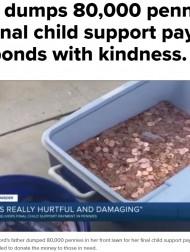 【海外発!Breaking News】養育費を硬貨8万枚で支払った父親、母娘は「最悪な状況を変えたい」と全額寄付へ(米)<動画あり>