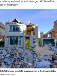 【海外発!Breaking News】完成間近の家を破壊された家主 「最悪の建築家を選んでしまった」(英)