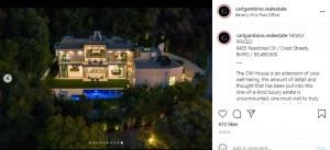 2人が購入したビバリーヒルズの豪邸(画像は『Carl Gambino 2021年6月6日付Instagram「NEWLY PRICED」』のスクリーンショット)