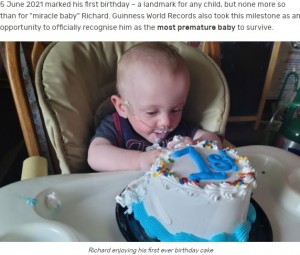 【海外発!Breaking News】「生存率0%」妊娠21週2日の超早産で誕生した赤ちゃんが1歳に(米)