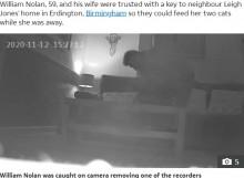 【海外発!Breaking News】ベッドやテーブル下に仕掛けられた録音機 犯人は信頼していた隣人だった(英)<動画あり>