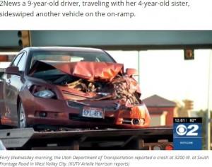 【海外発!Breaking News】「海で泳ぎたかった」9歳女児が4歳妹を乗せ車を運転 トラックと正面衝突(米)<動画あり>