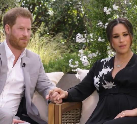 ヘンリー王子夫妻、BBCの報道に激しく反論(画像は『CBS 2021年3月1日付Instagram「CBS Presents Oprah with Meghan and Harry」』のスクリーンショット)