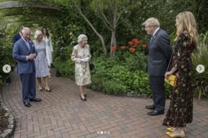 「エデン・プロジェクト」に到着した女王と王室メンバー(画像は『Clarence House 2021年6月11日付Instagram「The Queen, The Prince of Wales and The Duchess of Cornwall and The Duke and Duchess of Cambridge attended a @G7 Leaders Reception at the @edenprojectcornwall earlier today.」』のスクリーンショット)