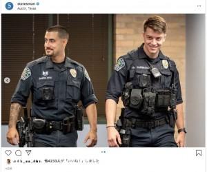 【海外発!Breaking News】燃え盛る車から男性を救った2人の警察官、「イケメン」ゆえ更に注目が集まる(米)<動画あり>