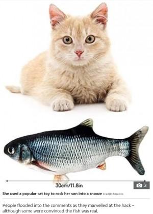 【海外発!Breaking News】猫用のおもちゃで赤ちゃんを寝かしつけるママのアイデアに230万件超の「いいね」(米)<動画あり>