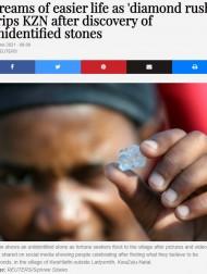 【海外発!Breaking News】小さな村の地面からダイヤが出現? 未確認情報に1000人以上が殺到(南ア)<動画あり>