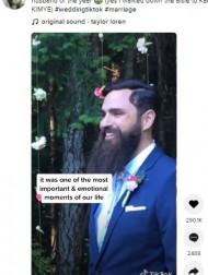 【海外発!Breaking News】バージンロードを歩く花嫁そっちのけでスマホをチェックする新郎に物議