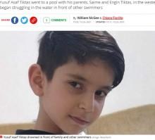【海外発!Breaking News】プールで溺れる8歳男児に誰も気付かず死亡、両親はすぐそばで日光浴(トルコ)