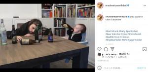 酔いつぶれるパパとビールを飲む子どもの様子を仕事中の妻に送った(画像は『On Adventure With Dad 2020年1月21日付Instagram「Dad couldn't take it anymore」』のスクリーンショット)