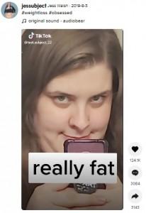 ダイエットを始めた2019年夏(画像は『Jess Walsh 2019年8月3日付TikTok「#weightloss」』のスクリーンショット)