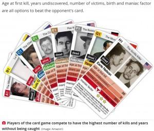 【海外発!Breaking News】悪名高い殺人鬼を用いたカードゲームに非難殺到「これを作った人は投獄されるべき」(独)