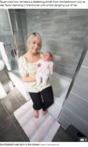 【海外発!Breaking News】「股間から赤ちゃんの足が!」シャワー中に出産した24歳女性(スコットランド)