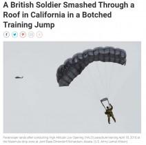 【海外発!Breaking News】トム・クルーズも挑戦の軍事訓練 高度1万メートルからパラシュートでの着陸に失敗、兵士が民家の屋根を突き破る(米)<動画あり>