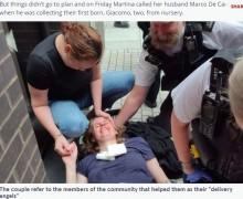 「赤ちゃんの頭を感じる!」歩道で出産した女性、警察官らの介助で「怖くなかった」(英)