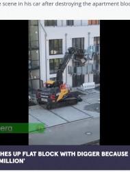 【海外発!Breaking News】「仕事には必ず対価を」 報酬未払いに激怒の建設業者が新築のバルコニーを容赦なく破壊(独)<動画あり>