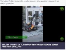 「仕事には必ず対価を」 報酬未払いに激怒の建設業者が新築のバルコニーを容赦なく破壊(独)<動画あり>