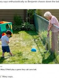 【海外発!Breaking News】コロナ禍で生まれたフェンス越しの友情、固い絆で結ばれた年の差97歳の2人(米)<動画あり>