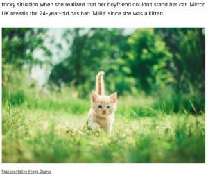 【海外発!Breaking News】「猫を処分して」と訴える恋人を自宅から追い出した女性「やりすぎ?」と投稿し物議を醸す