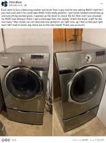 【海外発!Breaking News】個人売買にてギリギリの予算で洗濯機を購入した男性、売主のサプライズに感動する(米)