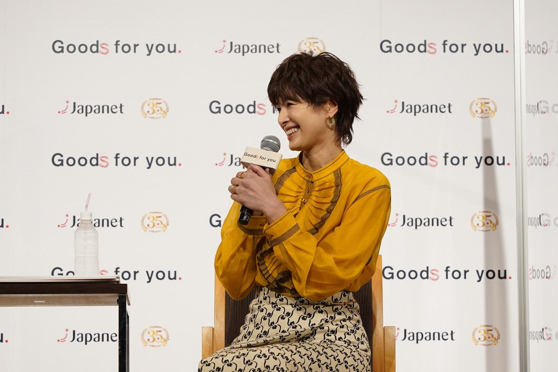 イベントに登場し、娘とのエピソードを語った吉瀬美智子