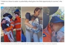 【海外発!Breaking News】行方不明の3歳男児、3日後に小川で発見される「水の近くにいたから助かった」(豪)<動画あり>