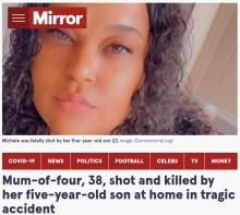 【海外発!Breaking News】5歳男児が誤って銃を発砲、撃たれた母親が死亡(米)
