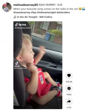 【海外発!Breaking News】フィル・コリンズが大好きな3歳男児、エアドラムに称賛続出「素晴らしいリズム感」(英)<動画あり>