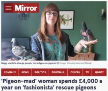 【海外発!Breaking News】ペットのハトに年間60万円以上をかけて贅沢な生活をさせる女性「彼らは特別な存在」(英)