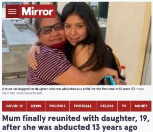 【海外発!Breaking News】自宅で誘拐された6歳女児、14年の時を経て母親との再会を果たす(米)