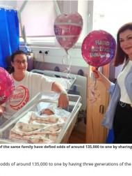 【海外発!Breaking News】孫娘の誕生で3世代が同じ誕生日に「これからは妻、娘、孫のプレゼントを用意しなければ…」と祖父(英)
