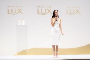 「LUX ブランドリニューアル発表会」に出席した水原希子