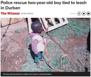 【海外発!Breaking News】2歳孫の首を犬用ロープで繋いで買い物に行った祖母に擁護の声(南ア)