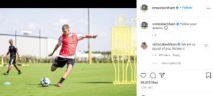米クラブと契約したロメオ、母ヴィクトリアが「誇りに思う」とコメント(画像は『ROMEO 2021年9月3日付Instagram「Follow your dreams」』のスクリーンショット)