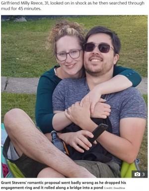 【海外発!Breaking News】ネズミのいる池に婚約指輪を落としてしまった男性のプロポーズに「指輪を探すより先にイエス!」(英)