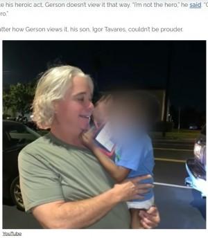 【海外発!Breaking News】夜の大通りをオムツ姿で走る2歳児 とっさに救った宅配運転手に称賛の声「彼こそヒーローだ」(米)<動画あり>