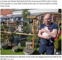 【海外発!Breaking News】愛猫のため自宅庭に造ったジャングルジムに取り壊し命令 飼い主「誰にも迷惑をかけていない」(英)