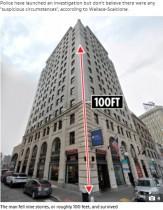 【海外発!Breaking News】ビル9階からBMWの上に落ちた31歳男性、奇跡的に助かる(米)<動画あり>