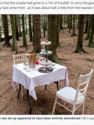 【海外発!Breaking News】森の中になぜかテーブルセット「アート作品」「プロポーズに失敗?」憶測飛び交うも、その事実に拍子抜け(英)