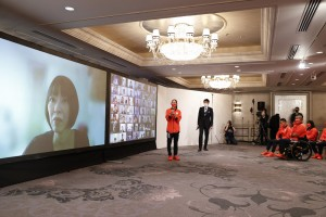 ファンからの質問に回答する野口啓代選手(C)日本オリンピック委員会