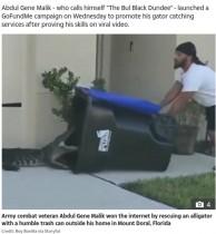 【海外発!Breaking News】住宅地を徘徊するワニをゴミ箱で捕獲した男性「ワニ捕獲サービス」を計画中(米)<動画あり>