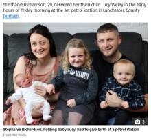 【海外発!Breaking News】4時間後に分娩予定だった妊婦、病院に向かう途中のガソリンスタンドで出産(英)