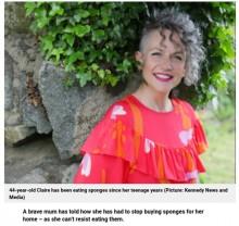 【海外発!Breaking News】家の中にスポンジを置くことをやめた女性「どうしても食べたい衝動に駆られてしまう」(英)