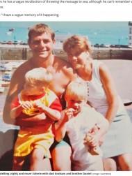 【海外発!Breaking News】亡き母と海に投げたメッセージボトル、24年の時を経て息子のもとに戻る(英)